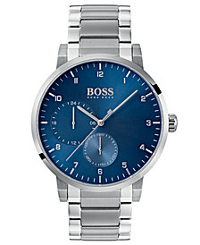 BOSS Hugo Boss Men's Oxygen Stainless Steel Bracelet Watch 42mm