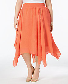 John Paul Richard Plus Size Handkerchief-Hem Skirt