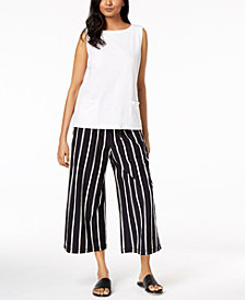 Eileen Fisher Organic Cotton Top & Cropped Pants