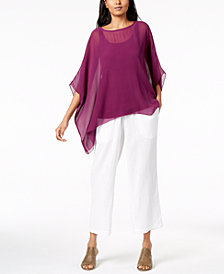 Eileen Fisher Asymmetrical Top, Tank Top & Straight-Leg Pants