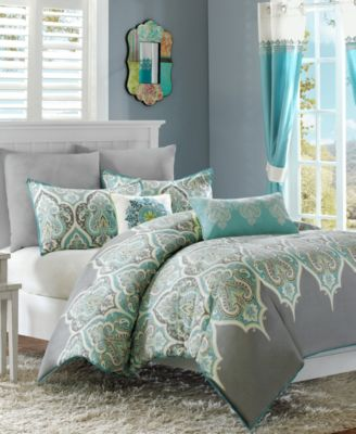 Nisha 4-Pc. Twin Duvet Cover Set