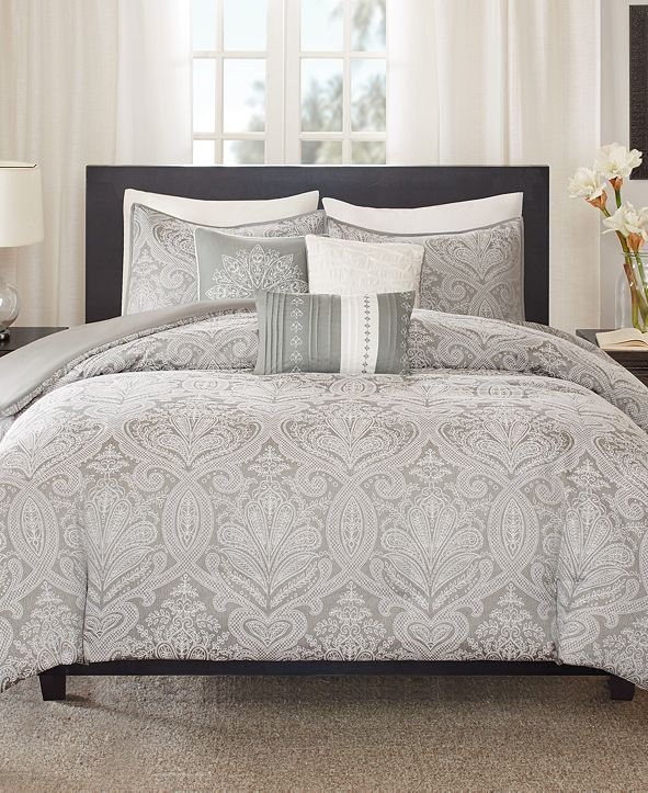 Madison Park CLOSEOUT! Averly 6-Pc. Full/Queen Duvet Cover Set