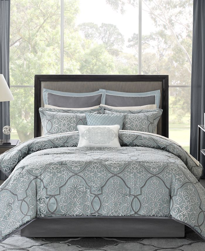 Madison Park - Lavine 12-Pc. California King Comforter Set