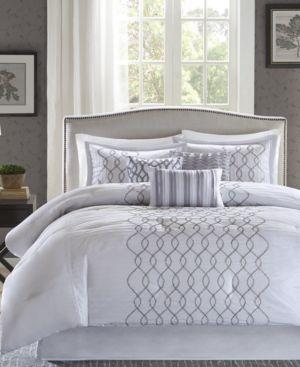 Madison Park Iris 6-Pc. King/California King Duvet Cover Set Bedding 6044242