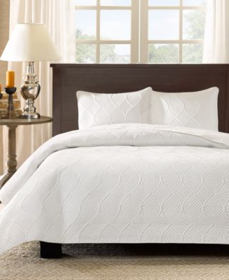 Corrine 3-Pc. Quilted Full/Queen Coverlet Set