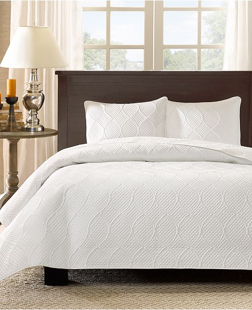 Madison Park Corrine 3-Pc. Quilted Full/Queen Coverlet Set