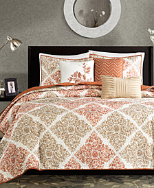 Madison Park Claire 6 Pc Quilted King California Coverlet Set