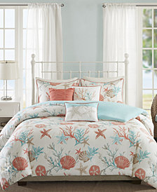 Madison Park Pebble Beach 6-Pc. Full/Queen Duvet Cover Set