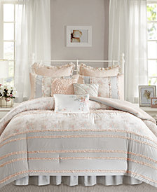 Madison Park Serendipity Cotton 9-Pc. Queen Comforter Set