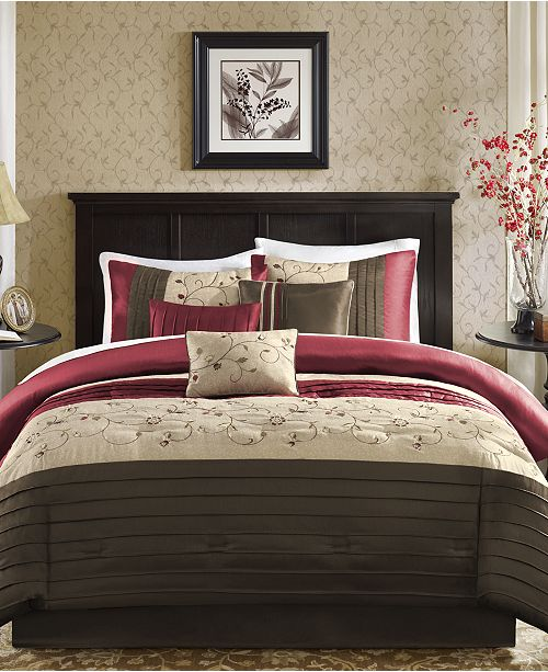 Madison Park Serene 7 Pc. California King Comforter Set & Reviews
