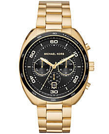 Michael Kors Men's Chronograph Dane Gold-Tone Stainless Steel Bracelet Watch 43mm