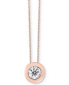 "Bubbles by EFFY® Diamond Bezel Frame 18"" Pendant Necklace (1/5 ct. t.w.)"