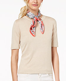 I.N.C. Go For It Floral Square Scarf, Created for Macy's
