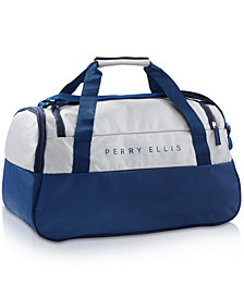 Receive a Complimentary Duffel Bag with any large spray purchase from the Perry Ellis Men's fragrance collection