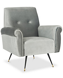 Kirwan Leather Accent Chair, Quick Ship