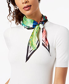 Echo Tasman Palms Silk Diamond Bandana Scarf