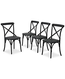 Jacinto Outdoor Dining Chairs (Set of 4), Quick Ship