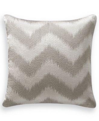 """Interlattice Chevron 18"""" Square Decorative Pillow, Created for Macy's"""