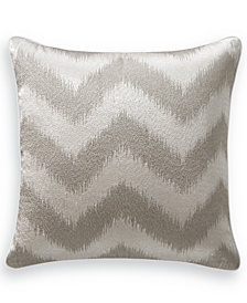 "Hotel Collection Interlattice Chevron 18"" Square Decorative Pillow, Created for Macy's"