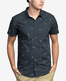 RVCA Men's Tridot Printed Shirt