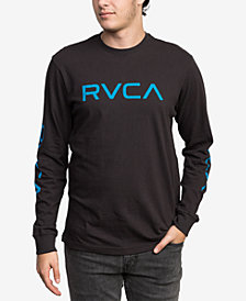 RVCA Men's Big Logo Long-Sleeve T-Shirt