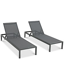 Westlake Outdoor Chaise Lounge  (Set of 2), Quick Ship