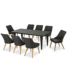 Manhattan 9-Pc. Outdoor Dining Set, Quick Ship