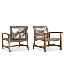 Jensen Outdoor Club Chairs (Set of 2)