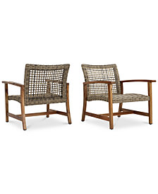 Jensen Outdoor Club Chairs (Set of 2), Quick Ship