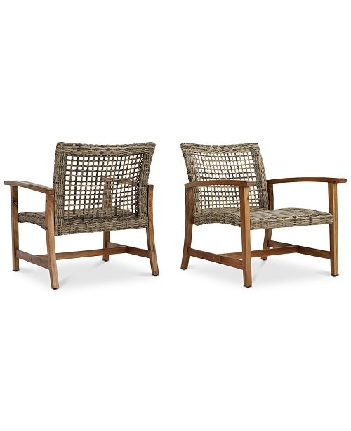 Furniture Jensen Outdoor Club Chairs (Set of 2), Quick Ship