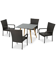 San Jose 5-Pc. Outdoor Dining Set, Quick Ship