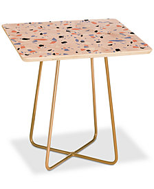 Deny Designs Emanuela Carratoni Sweet Terrazzo Texture Square Side Table