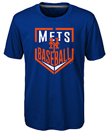 Outerstuff New York Mets Run Scored Poly T-Shirt, Big Boys (8-20)