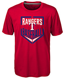 Outerstuff Texas Rangers Run Scored Poly T-Shirt, Big Boys (8-20)