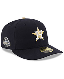 New Era Houston Astros World Series Commemorative Gold Low Profile 59FIFTY Fitted Cap