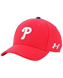 Under Armour Boys' Philadelphia Phillies Adjustable Blitzing Cap