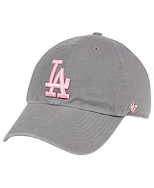 Los Angeles Dodgers Dark Gray Pink CLEAN UP Cap