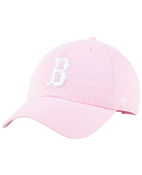 dfac9d8e38b 47 Brand Boston Red Sox Pink CLEAN UP Cap   Reviews - Sports Fan ...