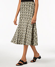 JM Collection Petite Printed Skirt, Created for Macy's