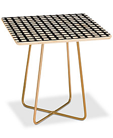 Deny Designs Kelly Haines Gingham Square Side Table