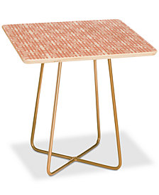 Deny Designs Madart Inc. Tropical Fusion Peachy Pattern Square Side Table