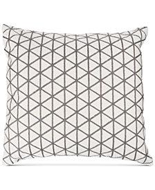 "Modern Geometric Triangle Accent 18"" Decorative Throw Pillow"
