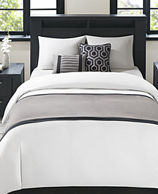 Madison Park Bailey 3-Pc. Herringbone Bedscarf & Decorative Pillow Set