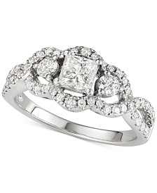 Diamond Princess Engagement Ring (1-1/4 ct. t.w.) in 14k White Gold