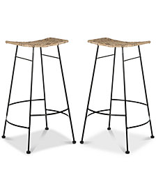 Ginnie Bar Stool (Set Of 2), Quick Ship