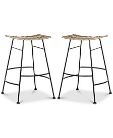Ginnie Counter Stool (Set Of 2), Quick Ship