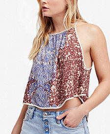 Free People Break Free Printed Cropped Tank