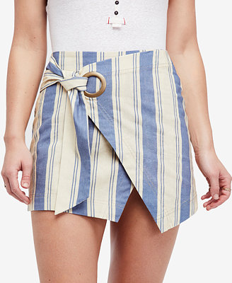 Tuscan Sunrise Striped Mini Skirt by Free People