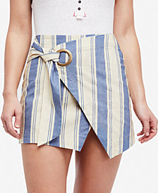 Free People Tuscan Sunrise Striped Mini Skirt