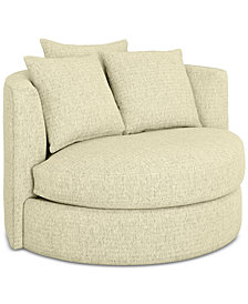 Mylie Fabric Swivel Chair - Custom Colors, Created For Macy's
